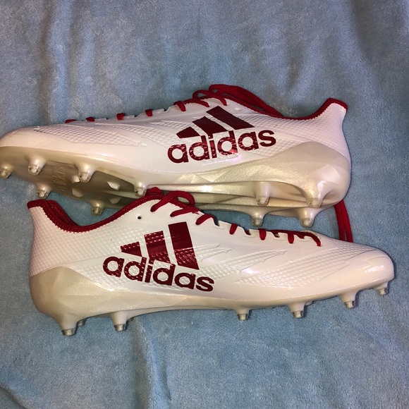 All White Adidas Football Cleats 56 Off Astecambiental Com Br